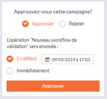 Worflow validation gestionnaire