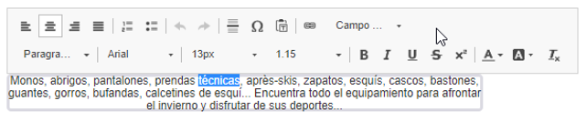 Editar el Texto