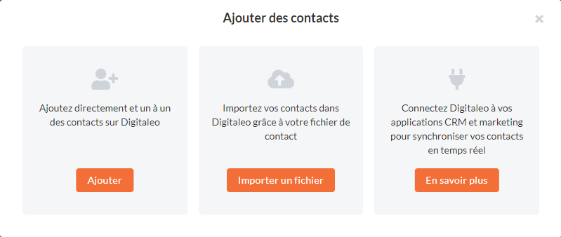 Ajouter des contacts