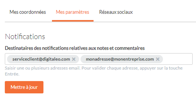 notif notes et commentaires